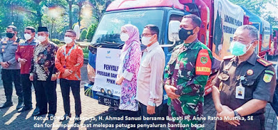 Ketua DPRD Purwakarta Hadiri Kegiatan Launching Penyaluran BST dan Beras