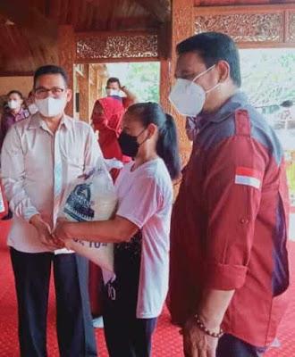 Ketua DPRD Purwakarta Hari Ini Menghadiri Kegiatan Launching Penyaluran BST dan Beras